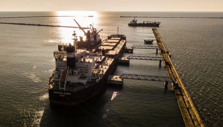 Грузооборот Лиепайского порта в первом полугодии вырос на 9,1%