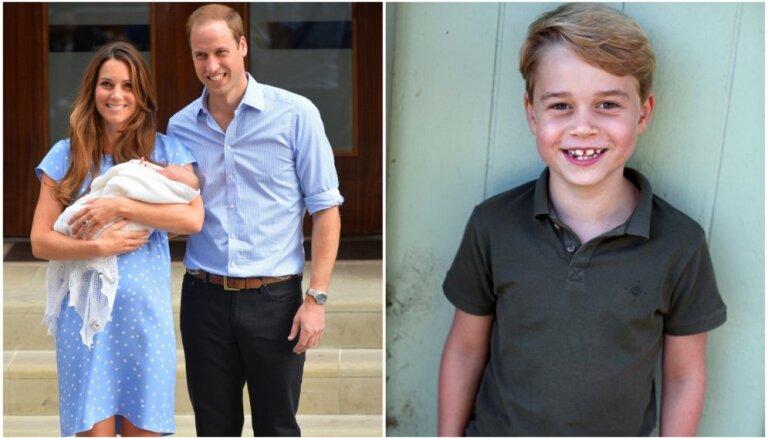 Toreiz un tagad: Mazajam princim Džordžam aprit septiņi gadi