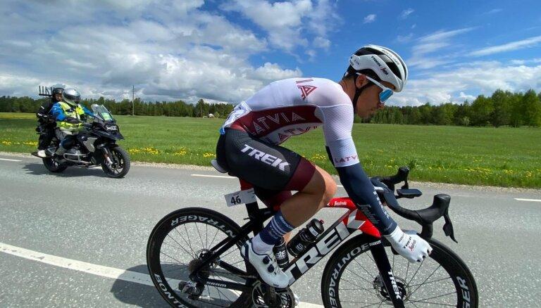 Liepiņš 'Tour of Estonia' pirmajā posmā pēc kritiena finišē astotajā vietā