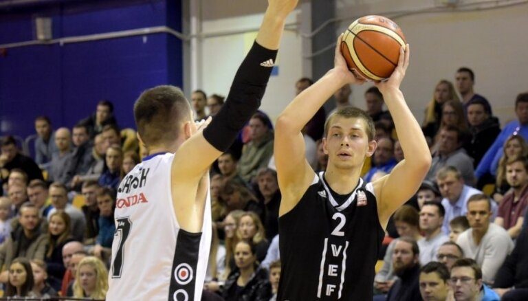 'VEF Rīga' pēdējā 'Olybet' līgas regulārā čempionāta spēlē sagrauj 'Tartu Universitāti'