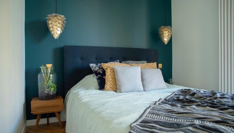 Zaļu, dzeltenu vai tomēr pelēku? Iedvesmojoši piemēri dažādu krāsu guļamistabām