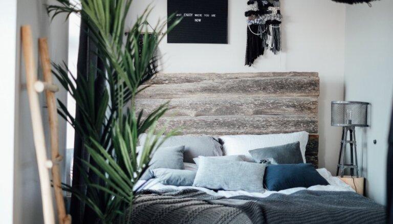 Galvenajā lomā gulta – guļamistabas dažos kvadrāmetros