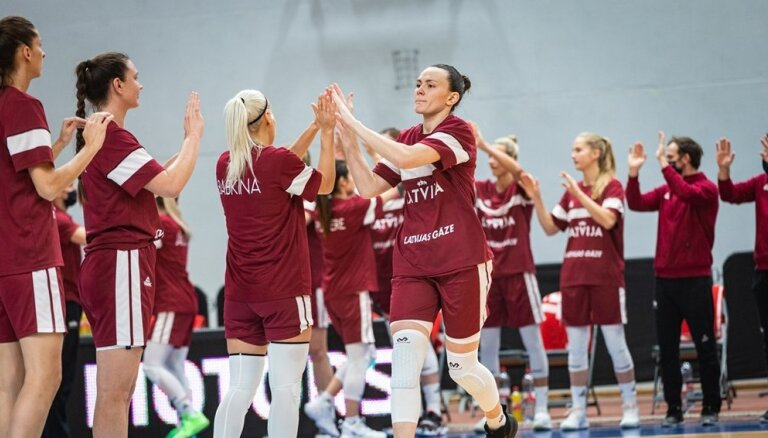 Latvijas sieviešu basketbola izlases sastāvā 'burbulī' būs 14 spēlētājas