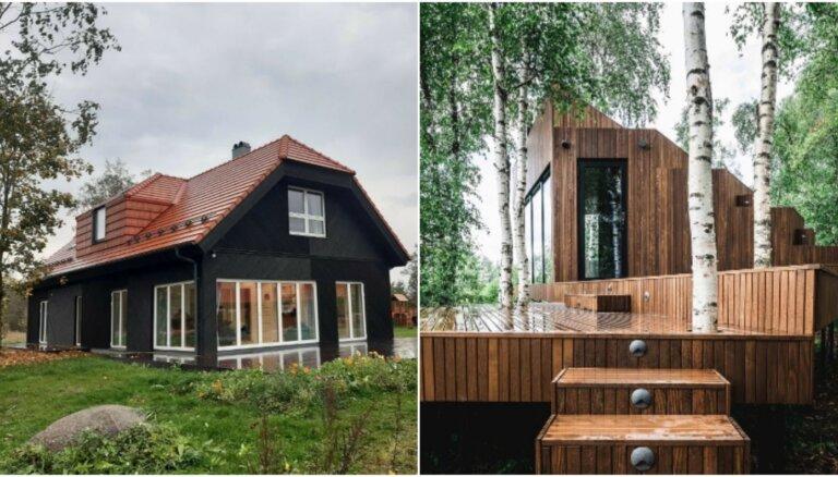 Foto: Kādas koka mājas Igaunijā pretendē uz titulu 'Labākā koka būve 2020'