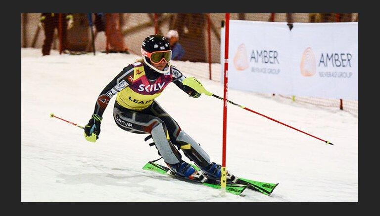 Leldei Gasūnai 45. vieta pasaules čempionātā milzu slalomā