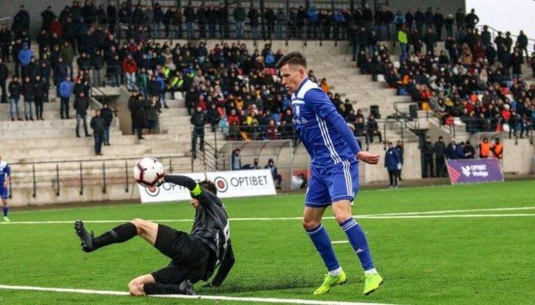 Latvijas virslīgas otro apli ar uzvaru iesāk 'Daugavpils' futbolisti