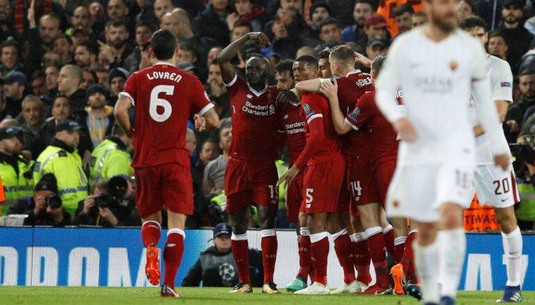 """Лига чемпионов: Салах сделал дубль, """"Ливерпуль"""" разгромил """"Рому"""" в матче с семью голами"""
