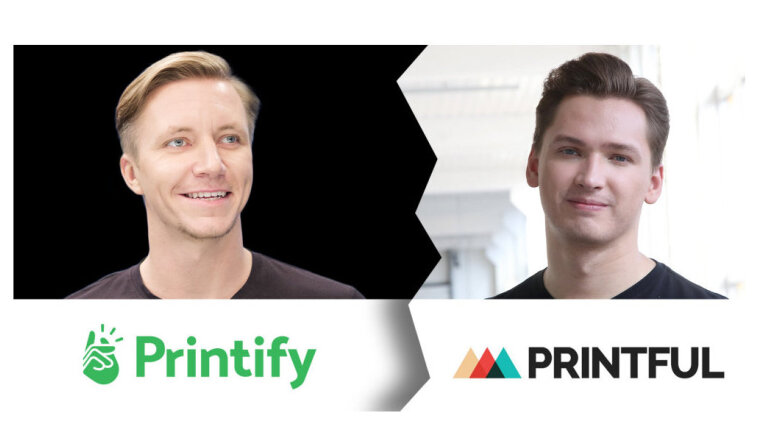 'Printful' pret 'Printify' - nejauša sakritība vai identitātes kopēšana?