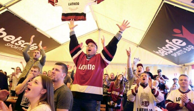 ВИДЕО: Сборная Латвии по хоккею вернулась домой с чемпионата мира