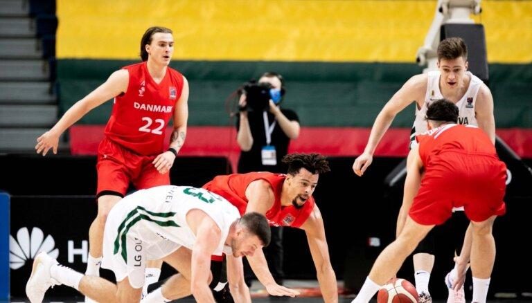 Lietuvas basketbolisti mājās šokējoši piekāpjas Dānijas izlasei