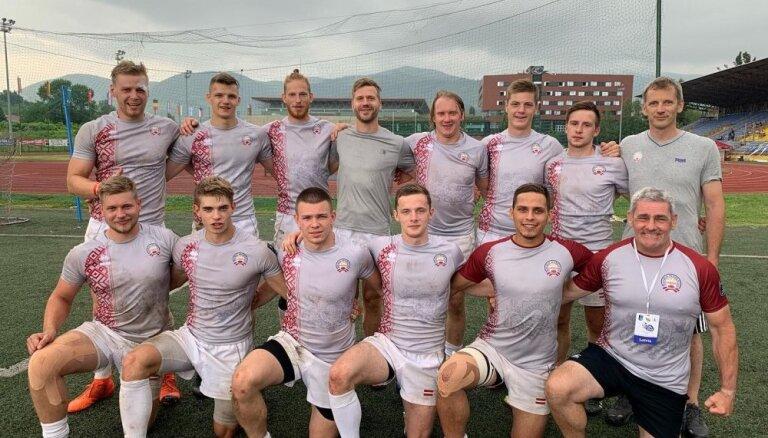 Latvijas regbija-7 izlase saglabā vietu Eiropas čempionāta 'Trophy' divīzijā
