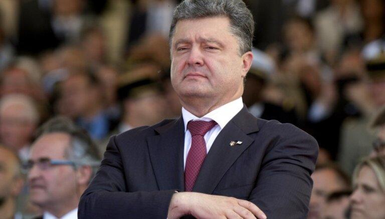 Ukraiņi spēs nosargāt savu zemi pret citas valsts impēriskajiem plāniem, paziņo Porošenko
