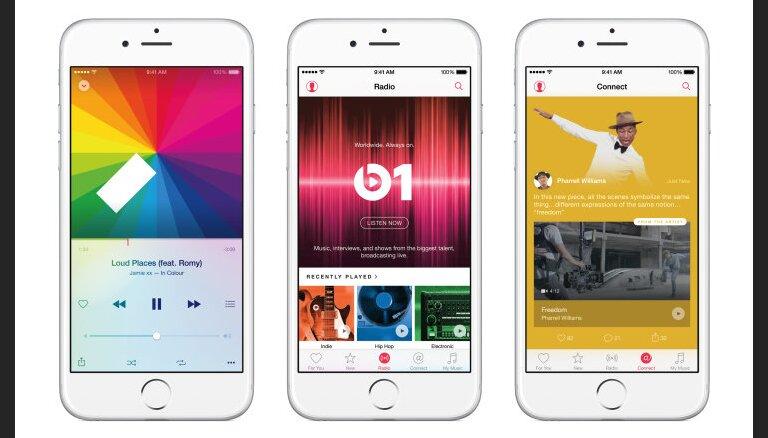 'Apple' viedierīču atjauninājums 'iOS 8.4' ievieš 'Music' servisu