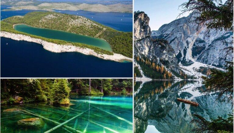 Kā no pasaku grāmatas: 14 neparasti ezeri dažādās pasaules malās