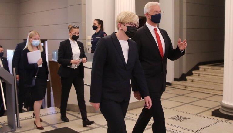 Foto: Lietuvas premjerministre Šimonīte viesojas Latvijā (plkst. 16.34)