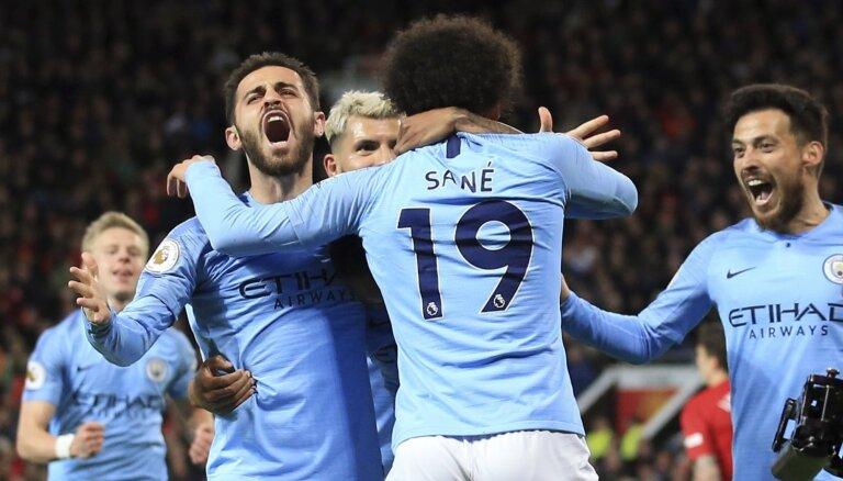 'Manchester City' uzvar derbijā un atgūst Anglijas premjerlīgas līderpozīciju
