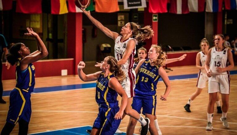 Latvijas U-18 basketbolistes iekļūst EČ ceturtdaļfinālā