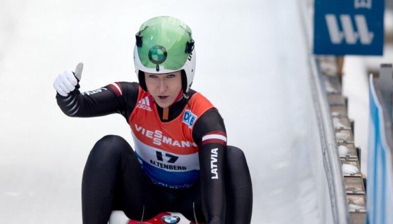 Латвия получила третью медаль на ЧЕ-2019 по санному спорту в Оберхофе