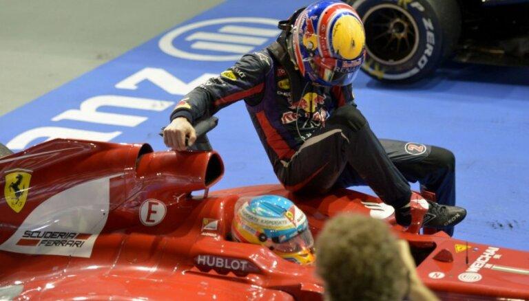 Vēberam vizināšanās uz Alonso formulas maksājusi 10 starta vietas