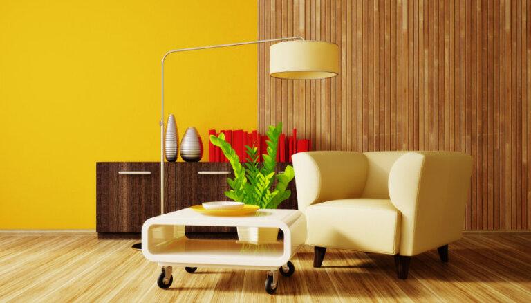 Dzeltenā krāsa interjerā vairo optimismu