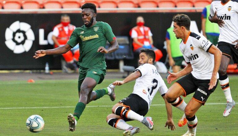 'Athletic' gūst uzvaru pār 'Valencia' un turpina cerēt uz dalību Eirokausos
