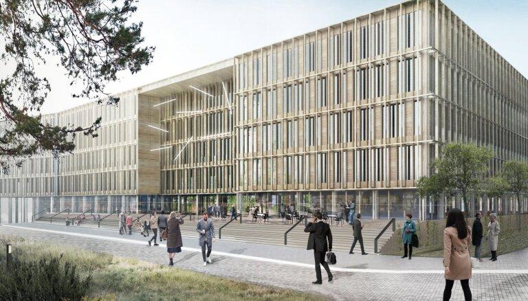 ФОТО: В Риге снесут магазин Rimi для строительства деревянной офисной многоэтажки
