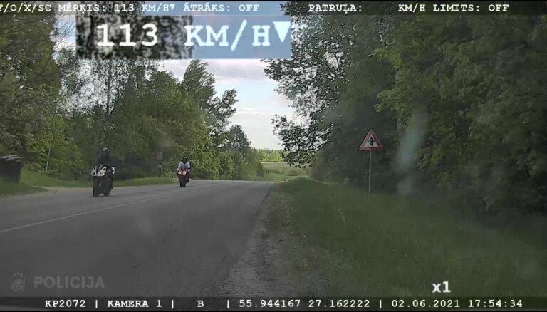 Video: Motociklisti Krāslavā traucas ar teju 200 km/h
