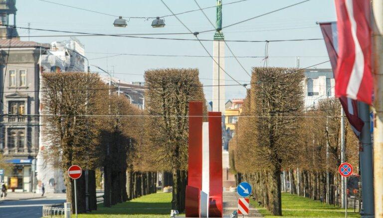 Foto: Ceļojošais koncerts un 1053 karogi – Rīga 4. maija svētku rotā