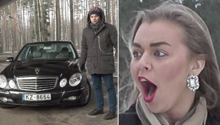 Video: Dāvis ar meitenēm testē 10 gadus vecu 'Mercedes' E-klases sedanu
