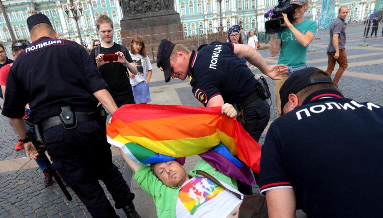 Krievijā atbalsts LGBT tiesībām sasniedz rekordu