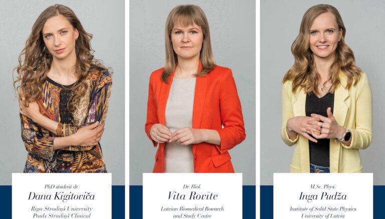 Trīs Latvijas zinātnieces saņēmušas prestižo 'Sievietēm zinātnē' balvu