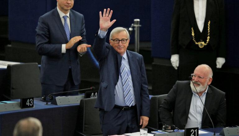Junkera pēdējā uzruna – 'Brexit' bija laika un enerģijas izniekošana