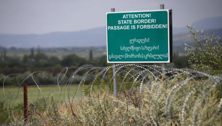 Gruzija apsūdz Krieviju robežas pārbīdīšanā