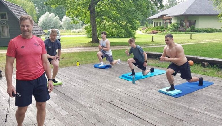 ФОТО: Латвийские бобслеисты начали подготовку к новому сезону