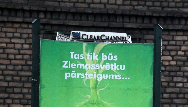 Rīgas būvvaldes trešajā izsolē reklāmas vietu nomas tiesību iegūšanai uzvarējusi 'Clear Channel Latvia'