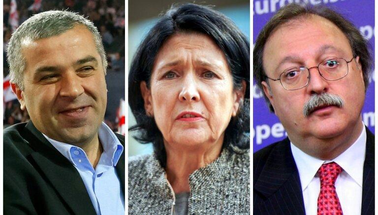 Pirms Gruzijas prezidenta vēlēšanām līderos trīs Saakašvili laika ārlietu ministri