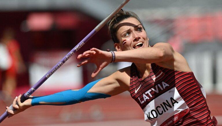 Latvijas šķēpmetējas ar grūtībām valda emocijas pēc olimpisko spēļu kvalifikācijas