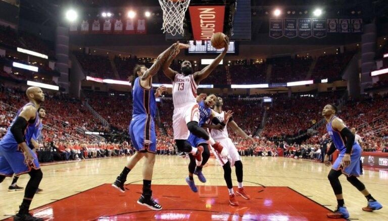 Hjūstonas 'Rockets' izslēdz 'Thunder' no NBA izslēgšanas turnīra