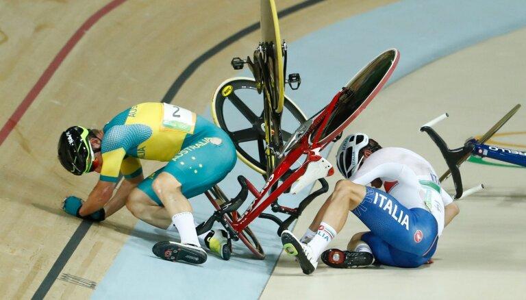 Итальянскому спортсмену пробило легкое куском велотрека на чемпионате Европы