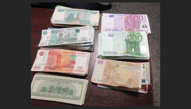 Latvijā no Krievijas nelikumīgi cenšas ievest skaidru naudu 16 430 eiro apmērā