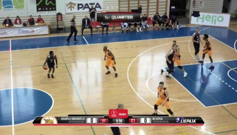'OlyBet' basketbola līga: 'Jēkabpils/SMScredit.lv' - 'Liepāja'. Pilns ieraksts
