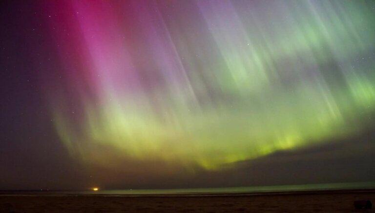 Ziemeļblāzma Rīgā, Vecāķu pludmalē