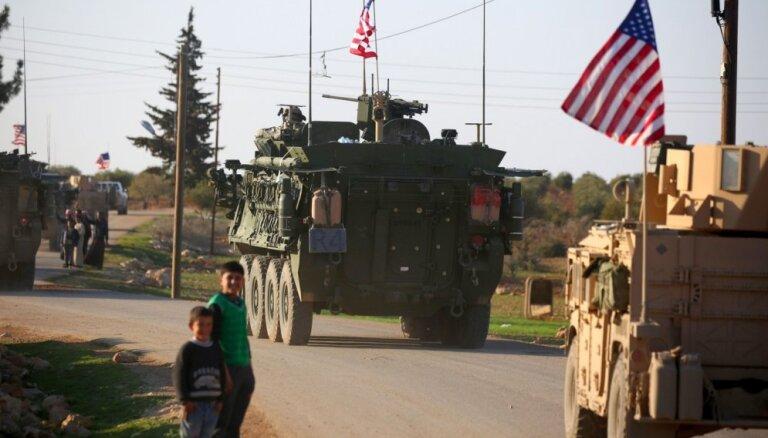 ASV amatpersona: lēmums Sīrijas jautājumā nav sākums pilnīgai karaspēka izvešanai