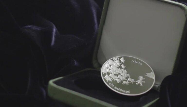 Sudraba kolekcijas monēta 'Pasaku monēta II. Eža kažociņš'