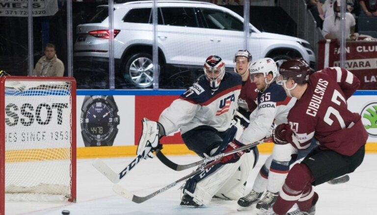 Хоккеисты сборной Латвии о матче с США и готовности к игре с Россией