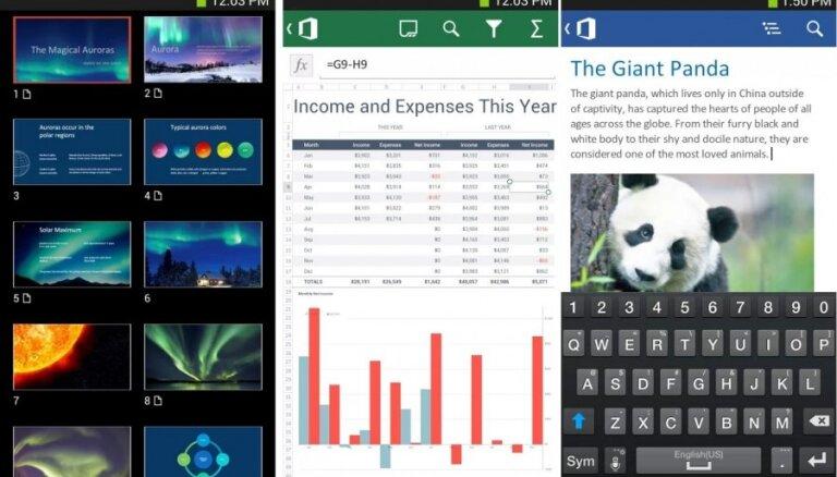 'Microsoft Office' tagad pieejams arī 'Android' viedtālruņiem