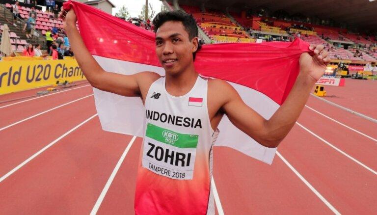 Indonēziešu sprinteris junioru PČ šokē vieglatlētikas pasauli