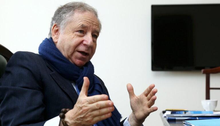 Biķernieku trases darbību FIA prezidents Žans Tods novērtējis atzinīgi