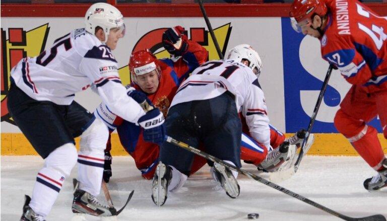 Video: Krievijas hokejisti turpina savu uzvaras gājienu