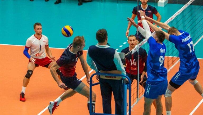 Latvijas volejbola izlase piekāpjas Igaunijai un zaudē izredzes kvalificēties EČ